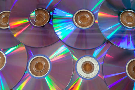discs: laser discs are on the table
