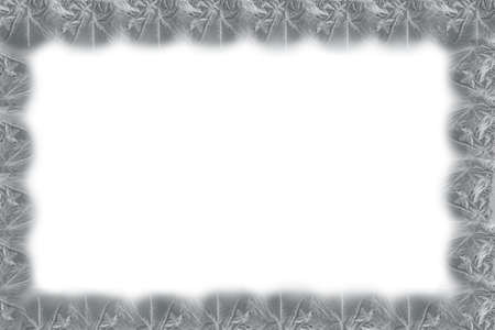 silver frame: silver frame of the ice pattern on a white background