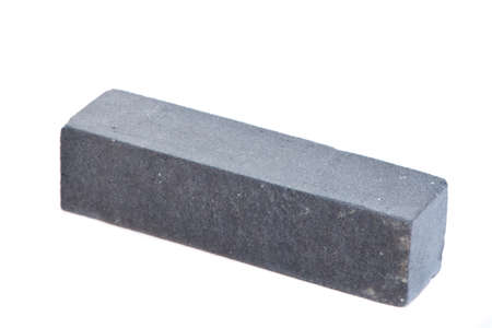 Grey long ceramic bricks at the white background, isolated