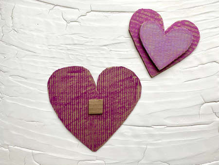 Step by step childrens crafts , how to make a heart Valentines day card from processing.