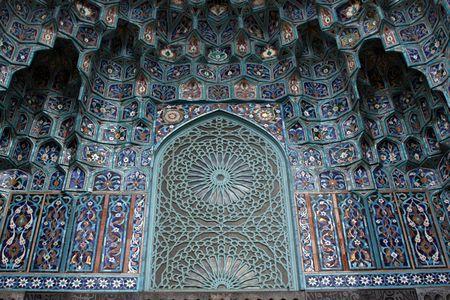 Ornament on mosque in Saint Petersburg