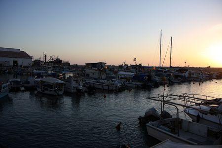 Old Jaffa port at sunset Stock Photo - 4673960