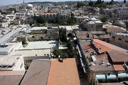 quater: View to the jewish quater of the old city of Jerusalem Stock Photo