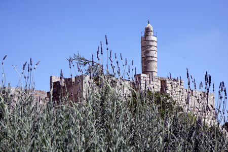 Tower of David in the old city of Jerusalem photo