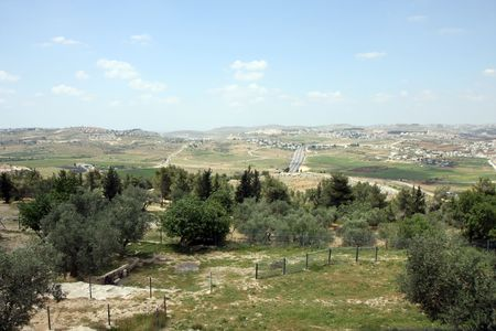 View to Yehuda valley in Israel