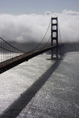 san francisco golden gate bridge: San Francisco Golden Gate Bridge at morning Stock Photo