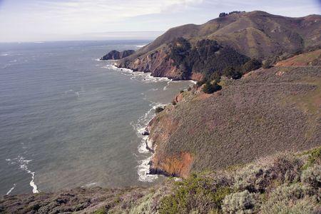 View from San Francisco Golden Gate Bridge at morning Stock Photo - 6578934