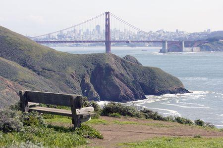View to the San Francisco Golden Gate Bridge Stock Photo - 6578926