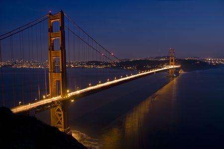 San Francisco Golden Gate Bridge at sunset Stock Photo - 6579011
