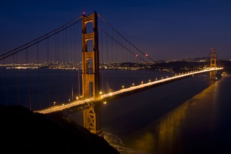 San Francisco Golden Gate Bridge at sunset photo