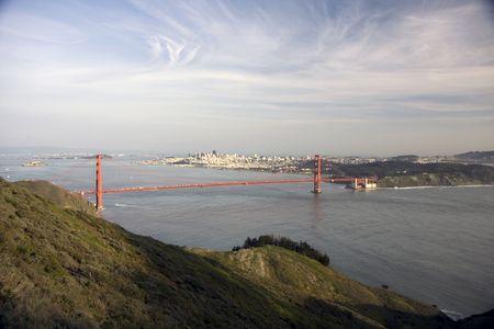 San Francisco Golden Gate Bridge at sunset Stock Photo - 6579030