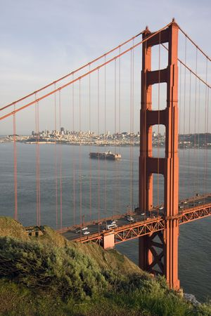 San Francisco Golden Gate Bridge at sunset Stock Photo - 6579133