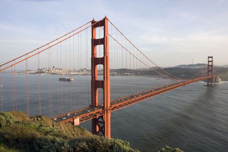 San Francisco Golden Gate Bridge at sunset Stock Photo - 6579080