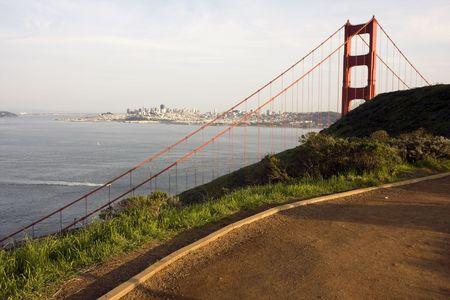 San Francisco Golden Gate Bridge at sunset Stock Photo - 6579132