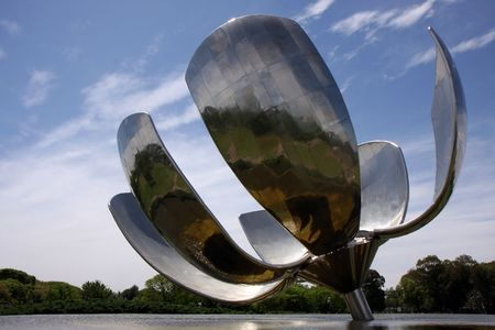 The Buenos Aires Flower statue in summer Stock Photo