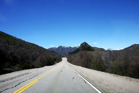 The seven lakes road next to Bariloche at Nahuel Huapi national park in Argentina  photo