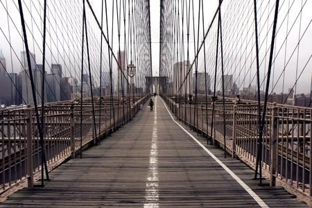 View of the Brooklyn bridge in New York photo