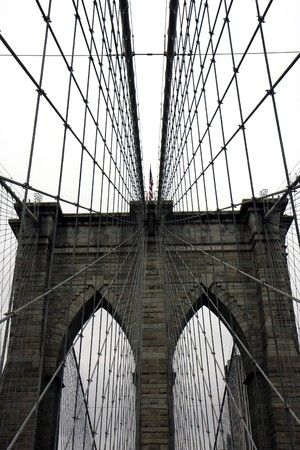 View of the Brooklyn bridge in New York photo
