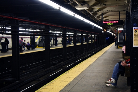 View on a platform of a New York subway