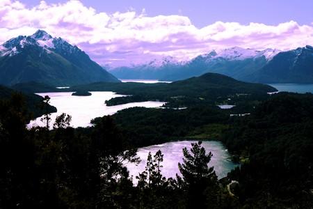 bariloche: View from the Cerro Campanario viewpoint next to Bariloche in Argentina