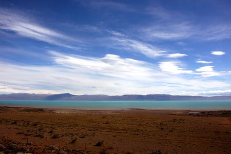 View next to El Calafate on the way to Perito Moreno photo