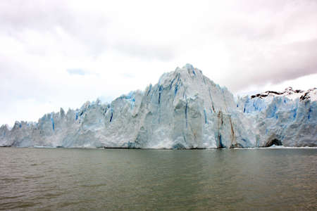 The Ice of Glacier Perito Moreno in Argentina