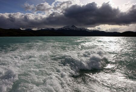 Torres del Paine water in the lake photo