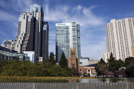 View at downtown San Francisco museums area Stock Photo
