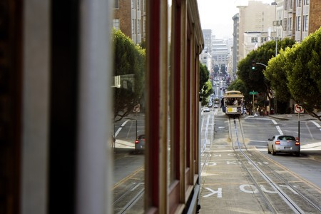 View from the San Francisco Cable car Stock Photo - 7609157