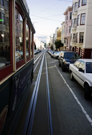 View from the San Francisco Cable car Stock Photo - 7609153