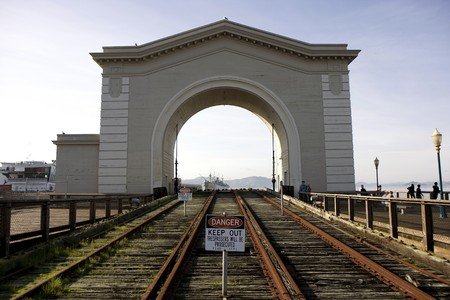 View to the old port gate at pier 39 in San Francisco Stock Photo - 7609226