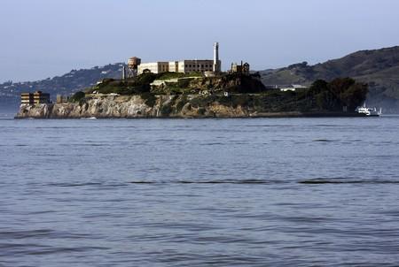 View next to Alkatraz island and a ship Stock Photo - 7609222