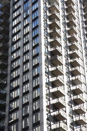 Closeup to a tall building in Manhattan photo