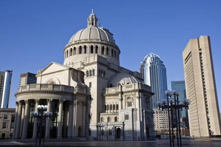 Bostons Christian Science church and Prudential building and the architecture around