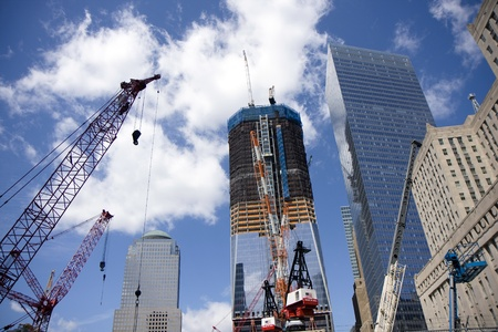 Ground Zero construction works in New York photo