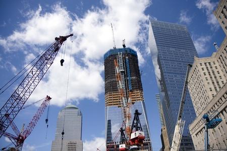 0 9: Ground Zero construction works in New York