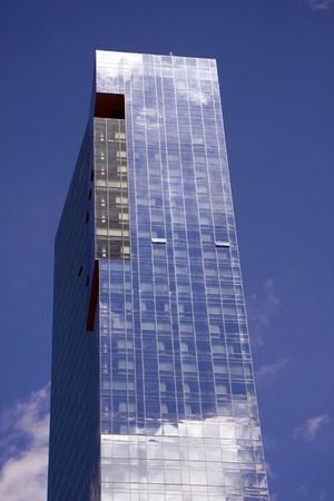 Closeup to building in midtown Manhattan, New York