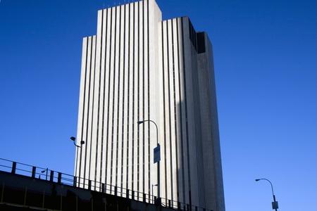 Closeup to buildings in Manhattan, New York photo