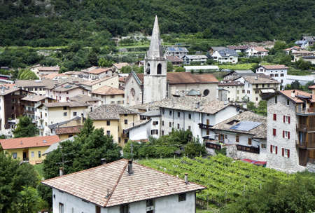 Typical village in the northern Italy mountains next to the city Trento photo