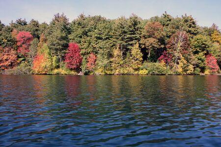 Walden Pond in Massachusetts in autumn