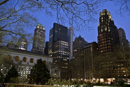 bryant: Bryant park in the midtown Manhattan at night