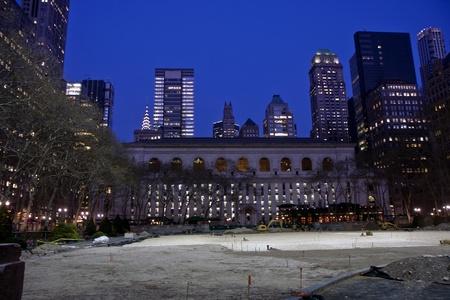 bryant park: Bryant park in the midtown Manhattan at night