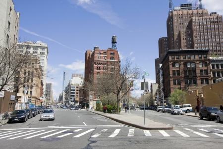 De straten in Chelsea gebied van Manhattan, New York
