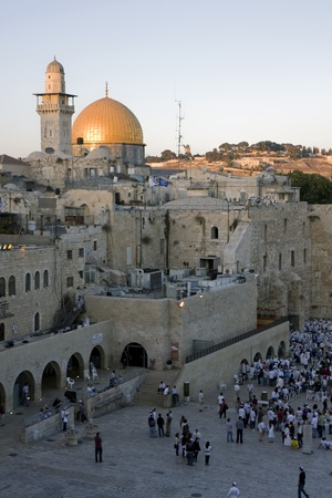 mountain mosque in Jerusalem - Dome of the Rock and the Western Wall