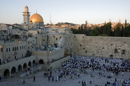 Temple mountain in Jerusalem - The western Wall