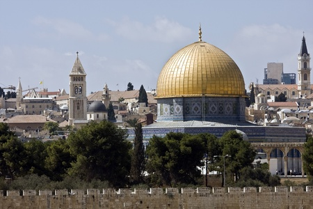 Temple mountain in Jerusalem - dome of the rock photo