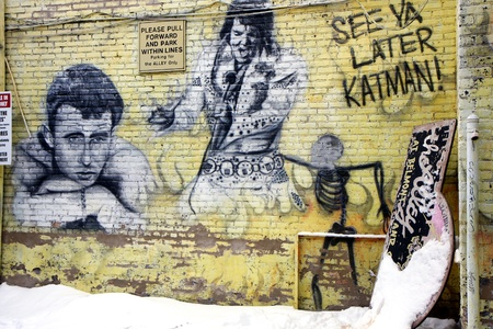 Street art in the city Chicago, Illinois