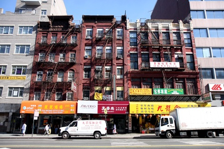 Street in Chinatown in New York City