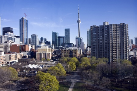 Toronto skyline and the view in city center photo