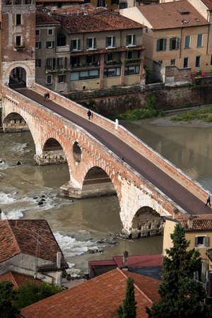 Saint Peter bridge and Adige river in Verona, Italy Stock Photo - 17156678